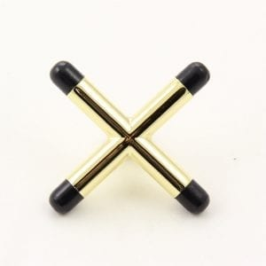 Brass CROSS Rest Head for Snooker or Pool with Plastic Toes